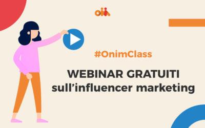 Nasce #OnimClass, un ciclo di webinar gratuiti sull'influencer marketing