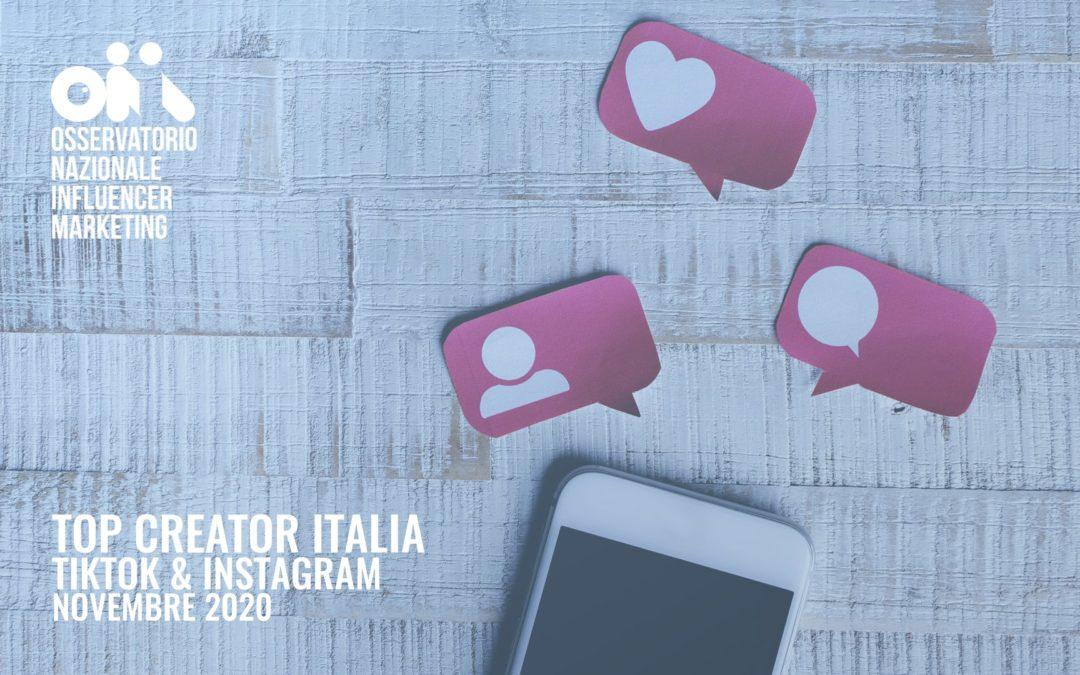 top creator influencer italia